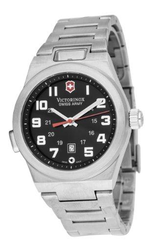 Victorinox 241130 - Reloj analógico de cuarzo para hombre con correa de acero inoxidable, color plateado