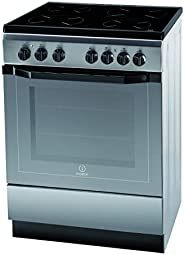 Indesit 60 X 60 cm Ceramic Cooker, Stainless Steel I-6VV2AXEX, 1 Year Warranty