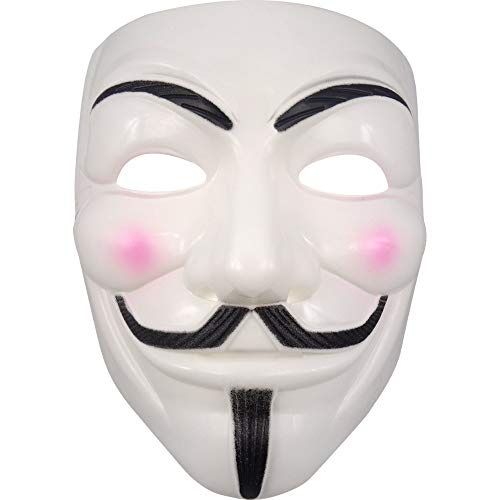 German Trendseller® Maske Vendetta - Deluxe - ┃ Guy Fawkes ┃ Fasching - Karneval - Party ┃ Premium - Guy Fawkes Kostüm Kinder