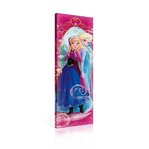 Fertig Zum Aufhängen auf Leinwand,–Vertikal Disney Frozen ELSA Anna Pink Rahmen Bordüre–XXL–144,8x 45cm (145x...