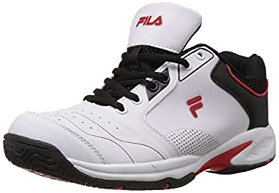Fila Men's Indoor White and Red  Tennis Shoes -11 UK/India (45 EU)