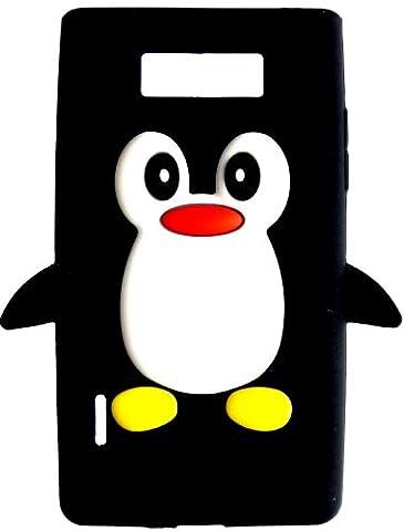 SKS Distribution® NOIR Mignon Pingouin Manchot Etui Coque Housse Pour LG Optimus L7 P700