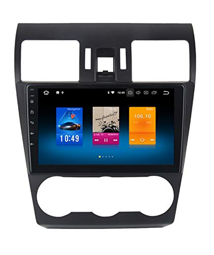 RoverOne 9 Zoll Android System Octa Core Autoradio Auto GPS Player für Subaru Forester 2013 2014 2015 2016 mit Navigation Stereo Radio Bluetooth Mirror Link Full Touch Screen (Subaru Navigation System)
