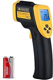 Etekcity Thermomètre Infrarouge sans Contact Laser de -50°C à 750°C, Large Plage de Mesure, Précision Haute, A