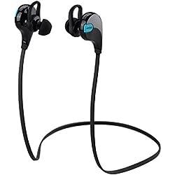 Auriculares Inalambricos Bluetooth Deportivos In Ear, Mpow Swift Cascos con Micrófono y Cancelación de Ruido y Tecnología APTX para Hacer Deporte Correr Running Compatible con iPhone 7 6 7 Plus Samsung S6 Sony Movil
