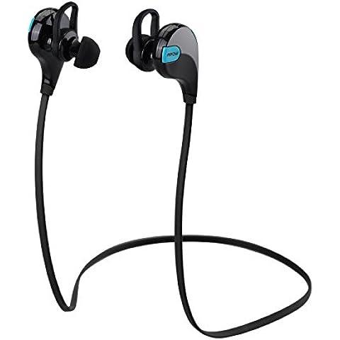 Mpow Swift Auriculares Eestéreo Bluetooth 4.0 para Correr, Cascos Deportivos y Resistente al Agua y Audor. con Tecnología aptX Avanzada para iPhone, iPad, Samsung, PC y otros Teléfonos Inteligentes - Color