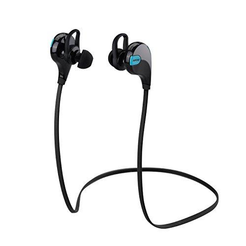 Auriculares Bluetooth 4.0 Inalámbricos Negros con Sonido Estéreo para Deporte, Cancelación de Ruido y Tecnología APTX