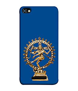 PrintVisa Designer Back Case Cover for Micromax CanvasHue2A316 (The Natraj Idol In Blue Design)