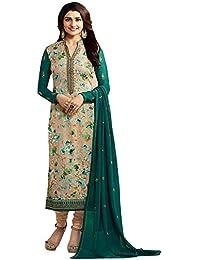 TF Prachi Desai Georgette Brasso Work Salwar Suit (Beige,Free Size,Vinay-6361)