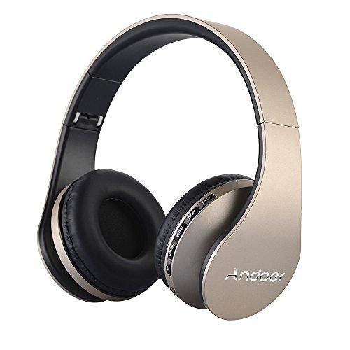 Andoer® LH-811 - Auriculares con Micrófono, Lector MP3 y Radio FM (E