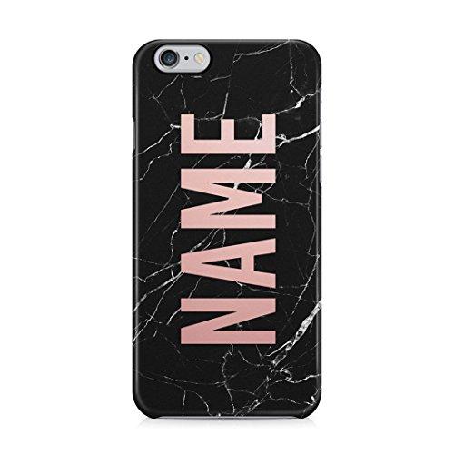 Personalised custom name create your own customized case black marble custodia protettiva in plastica rigida cover per iphone 6 / iphone 6s case