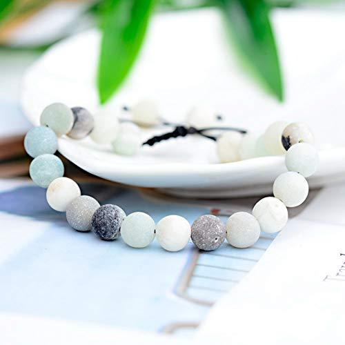 Imagen de ygsvt pulsera mujeres de la manera 8 mm pulseras de cuentas de piedra natural pulseras de macramé trenzada hecha a mano brazaletes regalo de los hombres