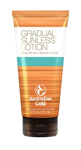Sunless Selbstbräuner Lotion (Australian Gold Gradual Sunless Lotion, 1er Pack (1 x 177 ml))