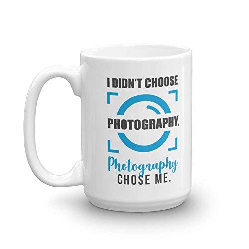 I Didn't Choose Photography. Photography Chose Me. Camera Auto Focus Coffee & Tea Gift Mug Cup For A Photographer, Graphic Designer & Artist (15oz)