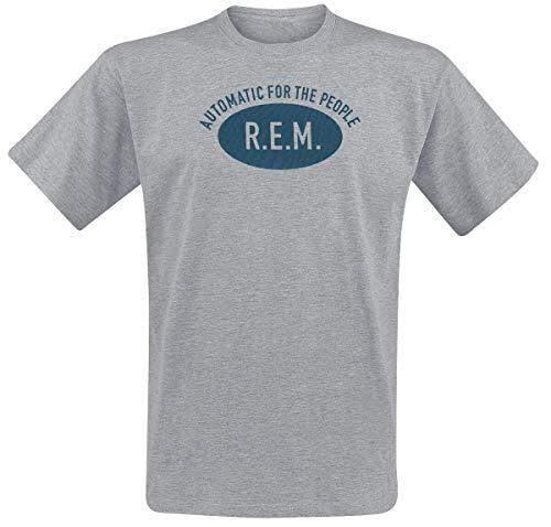 REM Automatic for The People T-Shirt grau meliert S (Rem-shirt)