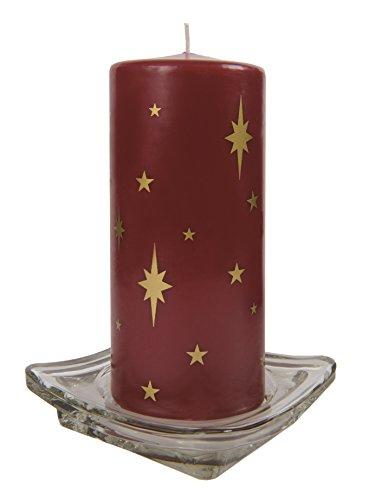 SEBNINI 10 Piezas Vela de Cera con Estrella de Navidad, Color
