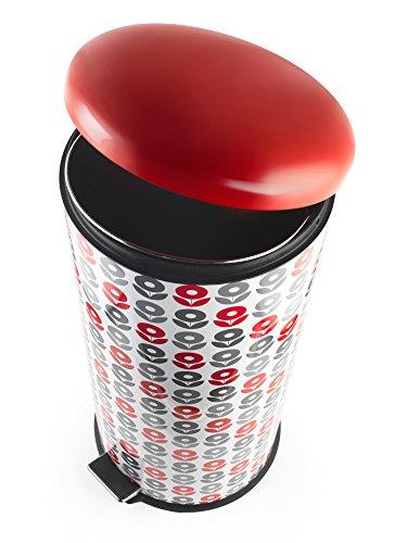 Salter BW05075 Dexie 30 Litre Red Kitchen Bin