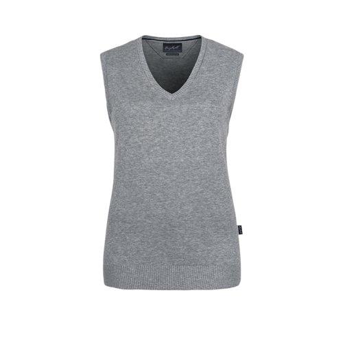 Hakro Women V Pullunder Premium Cotton, grau-meliert, XL