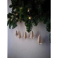"""5er-Set Papierornamente""""Tannenbaum""""/Christbaumschmuck//Fensterdeko//Anhänger aus Bücherseiten//Weihnachtsbaum//Christbaumkugel"""