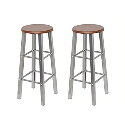 Anself 2pcs Bar Stools for kitchens, 30 x 30 x 70 cm - inexpensive UK light store.