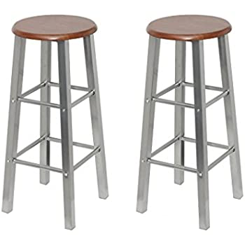 Vidaxl 2 tabourets de bar si ge en bois design - Amazon tabouret de bar ...