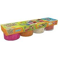 Super Sand Botes de arena, color naranja/rosa/blanco/molde, pack de 4 (Goliath 83223006)