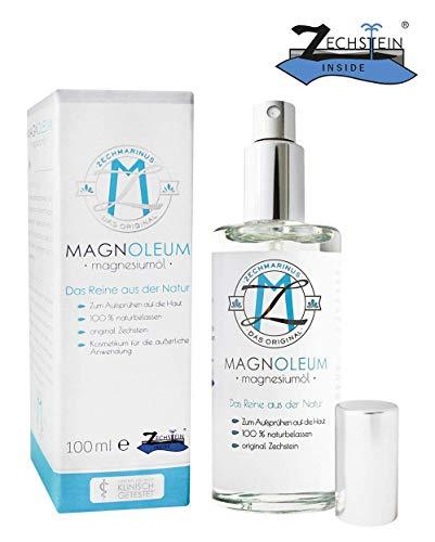 100{270215034201459b5c81c9e291738bb1f495ca190282a51722e34ca90cce7ceb} pures Magnesiumöl – Original Zechstein Magnesiumchlorid – Sprühflasche aus Glas – 100ml Magnesiumchlorid-Natursole