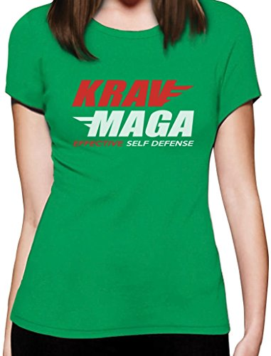 Geschenkidee - Krav Maga Effective Self Defense Damen T-Shirt Slim Fit Grün