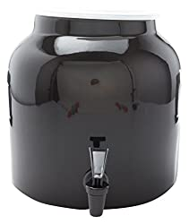 Black : Bluewave Solid Design Water Dispenser Crock, Black