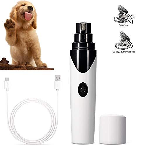 MOIMK Lima de Uñas Eléctrica para Mascotas, 50 DB Ultra silencioso y Vibraciones Bajas Amoladora del Clavo Recargable y de Bajo Ruido para Perros y Gatos, con Cable USB