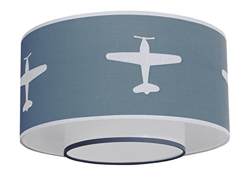 TAFTAN LPC-66 Deckenleuchte Flugzeug, blau - Komplett Gepolstert Metallrahmen