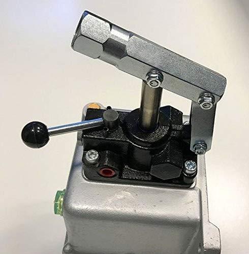 Uzman-Versand 45ccm Hydraulik Handpumpe mit 1 liter Hydrauliktank doppeltwirkend + Handhebel, Hydraulikpumpe Hydraulische Hand-Pumpe Hydraulikhandpumpe hydrauliköl (Hand Pumpe)