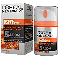 L'Oréal Paris Men Expert Hydra Energetic Crema Idratante Anti-Fatica, con Estratto di Guaranà e Vitamina C, 50 ml