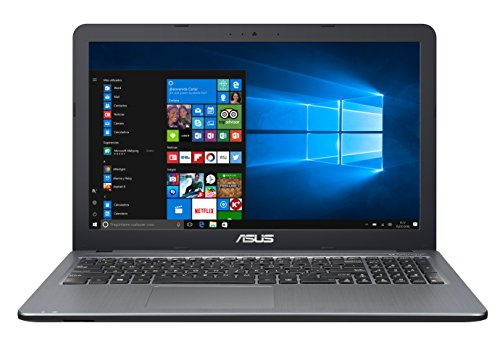 ASUS D540SA-XX620T - Ordenador Portátil DE 15.6' HD (Intel Celeron N3060, 4 GB de RAM, HDD de 500 GB, Intel HD Graphics 400, Windows 10 Original), Plata gradiente - Teclado QWERTY Español