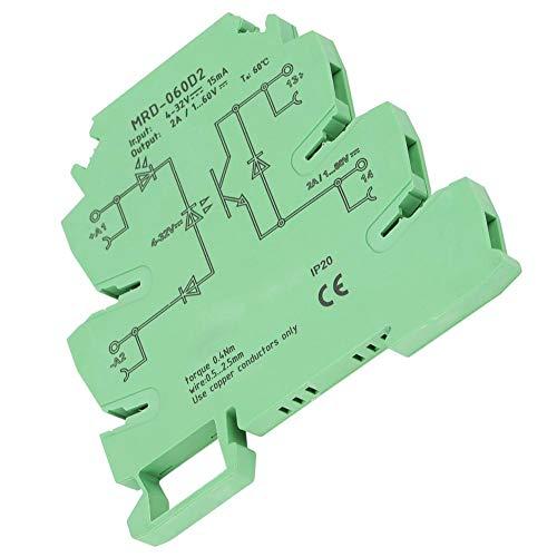 Halbleiterrelaismodul, MRD-060D2, ultradünner 6,2-mm-Eingang, 4-32 VDC für pneumatische Gleichstrom-Elektromagnetventile, Gleichstrom-Halbleiterrelaisausgang -