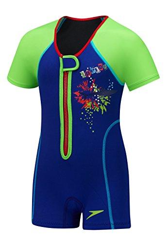 Speedo Kinder UPF 50+ beginnen zu schwimmen Thermo-Badeanzug, Saphir Blau, 2Hoch, Uv Thermal Suit, saphirblau