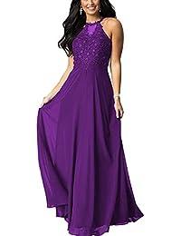 BetterGirl Damen Chiffon Spitze Ballkleider Abendkleider Lang Elegant  Hochzeits Brautjungfernkleider… 58069564e1