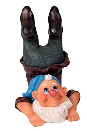 Gartenzwerg Zwerg macht Handstand Gartenfigur 25x15 cm - 378
