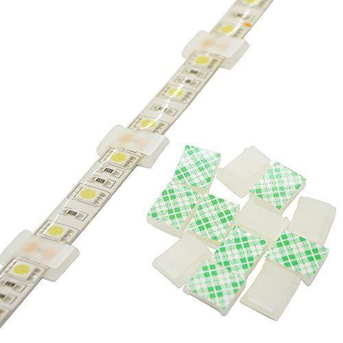 """Tira Clips de montaje de luz autoadhesivos para tiras de soporte, 100 unidades, 8 mm, 10 mm, 12 mm, abrazadera de fijación de tira de luz, For 10mm(3/8\"""") Wide Strip Light"""