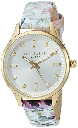 Ted Baker Women's 'ZOE' Quartz Stainless Steel and Leather Dress WatchMulti Color (Model: 10031554)