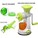 VM Fruit And Vegetable Hand Juicer, Muilti Crusher And 2 In 1 Veg Cutter Combo