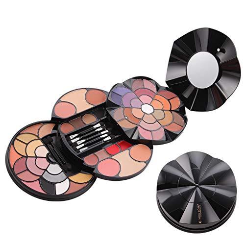 SoundJA 57 Farbige Blütenblätter Make-up Tablett Frauen Mädchen Damen 43 Farben-Lidschatten 4...