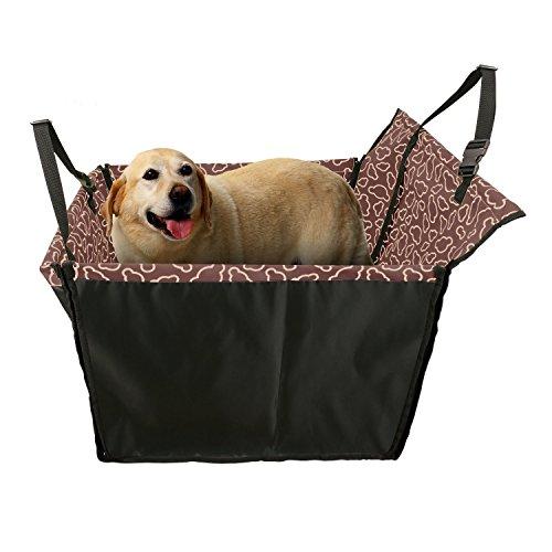 Ducomi DogDeal - Seggiolino Auto per Cane - Coprisedile Singolo per Cani Media e Grande Taglia - Telo Impermeabile Protegge la Vettura - Dotato di Cinghie di Sicurezza e Struttura Stabile (Brown)