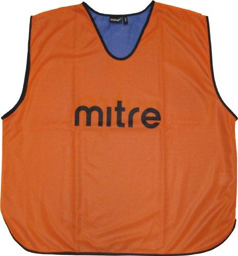 Mitre Soccer Pro, Pettorina reversibile da calcio, Arancione/Blu reale, S Uomo