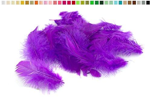 Marabufedern ca. 20 Stück, 6-10cm ( lila / purpur 465 ) // Dekofedern Bastelfedern Marabu Federn (Lila Feder Maske)