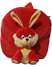 Pari Toys Red Color School Bag For Kids, Travelling Bag, Picnic Bag, Carry Bag With Soft Material 15 Inch - B074CGZSVJ