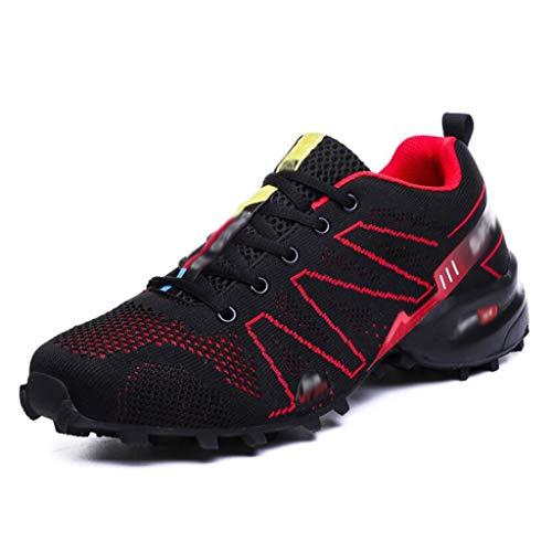 FGSJEJ Tennis Air Chaussures de Course pour Hommes, Poids légers, entraînement Physique, Sport, entraînement, Baskets Sportives (Couleur : Red, Taille : 42)