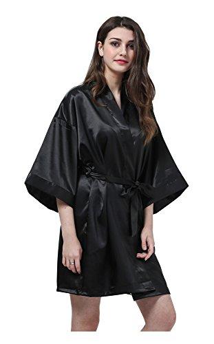 Joyplay Damen Morgenmantel Satin Robe Nachtwäsche 22 Stil ...