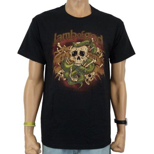 Lamb Of God-T-shirt Venom Band, Nero, Uomo, LAMB OF GOD - VENOM T-Shirt, nero, M