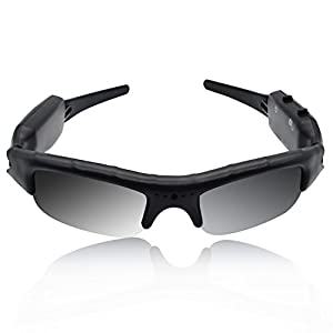 camaras de video espionaje: BeiLan Cámara de Gafas de Sol 480P DVR Grabadora de Vídeo con Cable USB y Ranura...